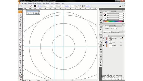 Cleaning up overlapping segments: Illustrator CS3 One-on-One: The Essentials