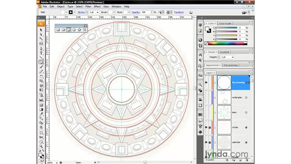 Drawing circles: Illustrator CS3 One-on-One: The Essentials
