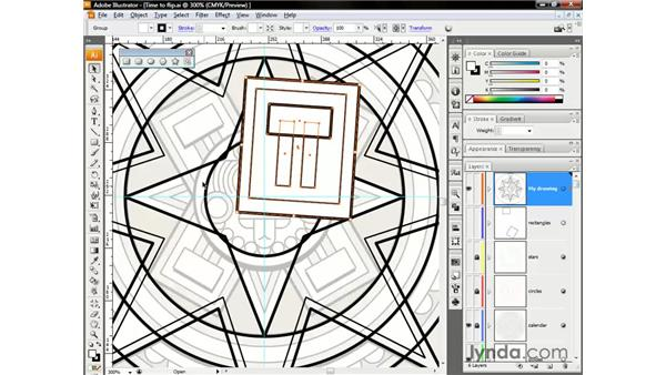 Grouping a flipping: Illustrator CS3 One-on-One: The Essentials