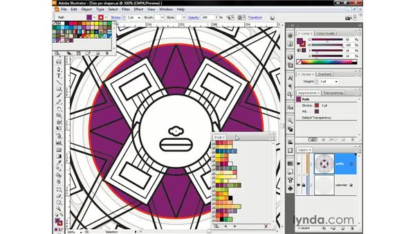 Accessing color libraries and sliders: Illustrator CS3 One-on-One: The Essentials