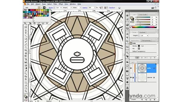 Creating and saving color swatches: Illustrator CS3 One-on-One: The Essentials