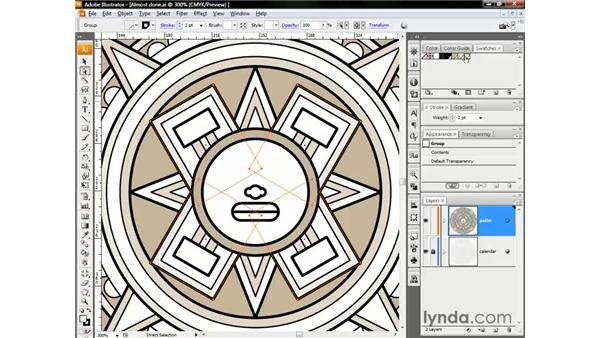 Filling shapes inside groups: Illustrator CS3 One-on-One: The Essentials