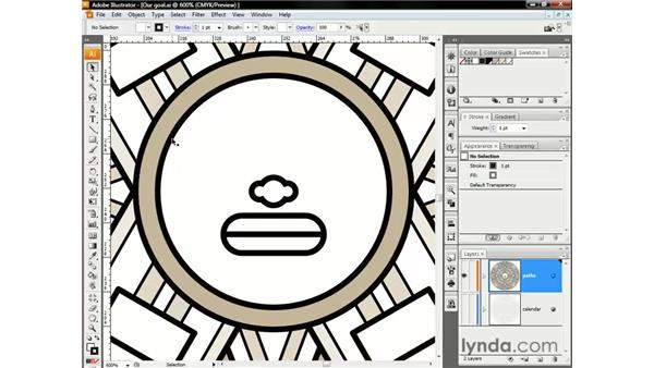 Pasting between layers: Illustrator CS3 One-on-One: The Essentials