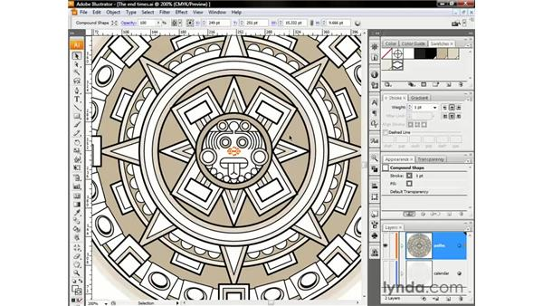 Creating a pattern fill: Illustrator CS3 One-on-One: The Essentials