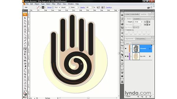 Using the Reshape tool: Illustrator CS3 One-on-One: The Essentials