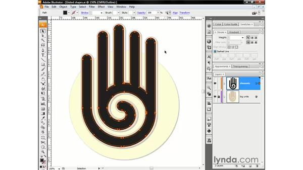 Using the Offset Path command: Illustrator CS3 One-on-One: The Essentials