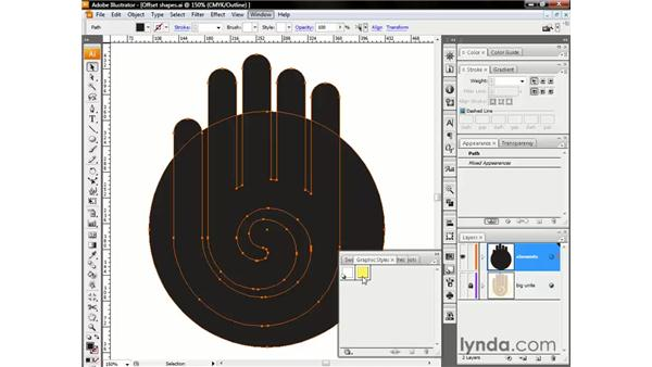 Styling and eyedropping: Illustrator CS3 One-on-One: The Essentials