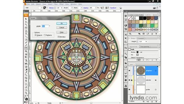 Rotating by the numbers: Illustrator CS3 One-on-One: The Essentials