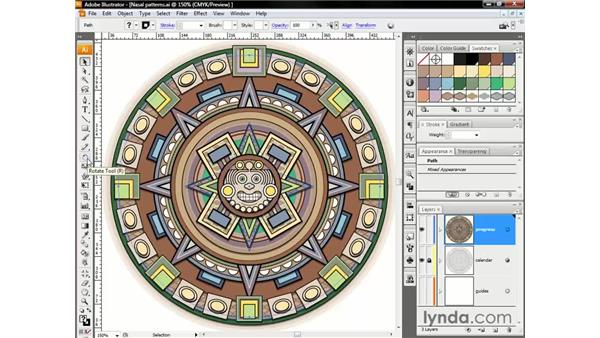 Rotating repeating pattern fills: Illustrator CS3 One-on-One: The Essentials