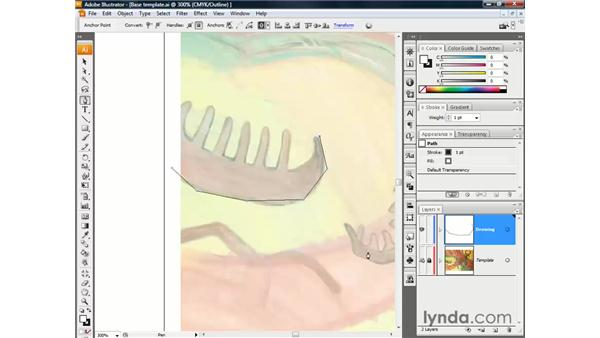 Drawing a straight-sided path: Illustrator CS3 One-on-One: The Essentials