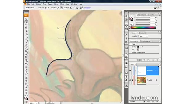 Smooth points and Bézier curves: Illustrator CS3 One-on-One: The Essentials