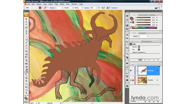 Eyedropping template colors: Illustrator CS3 One-on-One: The Essentials