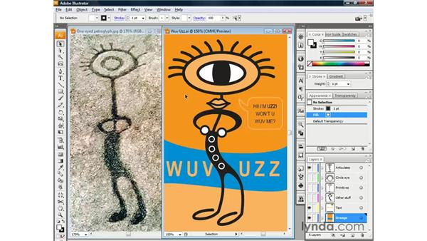 Meet Uzz, Cloying Corporate Mascot: Illustrator CS3 One-on-One: The Essentials