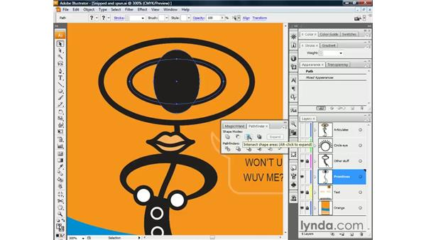 Keeping shape intersections: Illustrator CS3 One-on-One: The Essentials