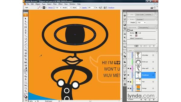 Lifting fills and selecting through shapes: Illustrator CS3 One-on-One: The Essentials