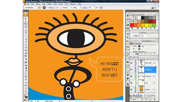 Using the Magic Wand tool: Illustrator CS3 One-on-One: The Essentials