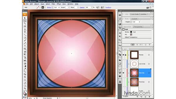 Merging strokes with a compound path: Illustrator CS3 One-on-One: The Essentials