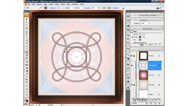 Selecting and scaling independent segments: Illustrator CS3 One-on-One: The Essentials