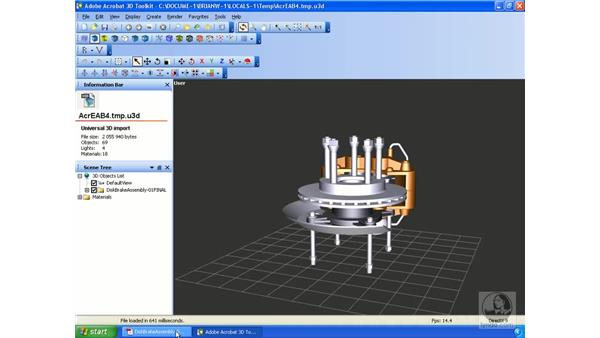 Using the Help function : Acrobat 3D Version 8 Essential Training