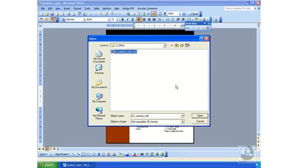 Manipulating 3D models in Word or Excel files: Acrobat 3D Version 8 Essential Training
