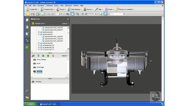 Changing and saving views: Acrobat 3D Version 8 Essential Training