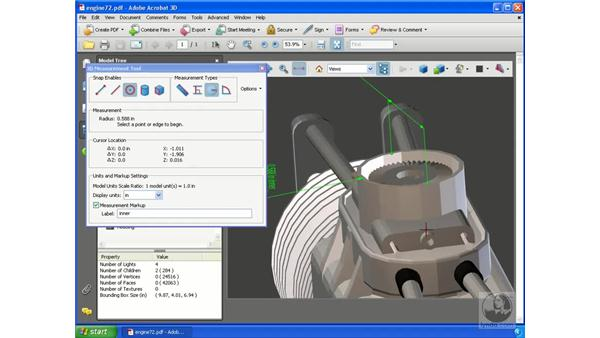 Measuring with the 3D Measurement tool: Acrobat 3D Version 8 Essential Training