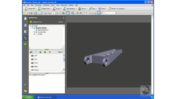 Viewing product information (PMI) for a 3D model: Acrobat 3D Version 8 Essential Training
