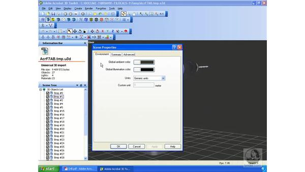 Viewing options in the Acrobat 3D Toolkit: Acrobat 3D Version 8 Essential Training
