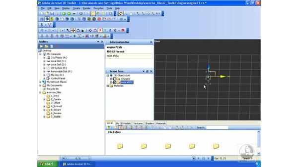Merging a 3D model: Acrobat 3D Version 8 Essential Training