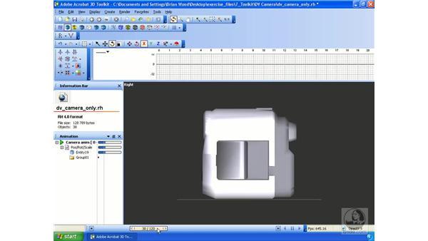 Editing animations: Acrobat 3D Version 8 Essential Training