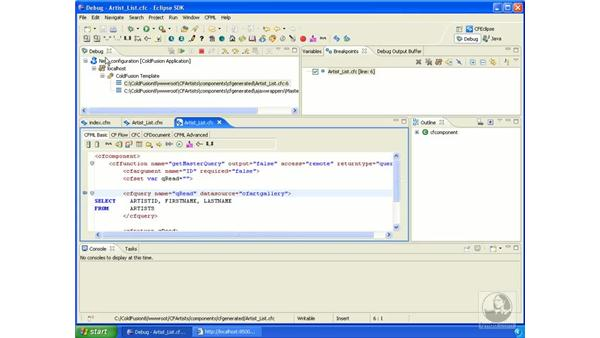 Using the debugger: ColdFusion 8 New Features