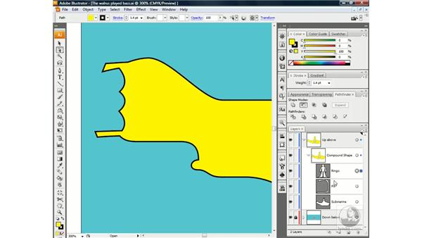Adding a subpath to a compound shape: Illustrator CS3 One-on-One: Beyond the Basics
