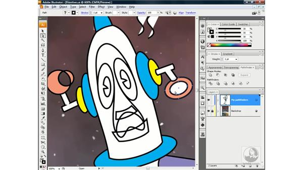 Working with compound paths: Illustrator CS3 One-on-One: Beyond the Basics