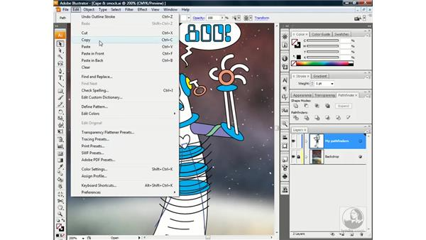 Using the Crop op: Illustrator CS3 One-on-One: Beyond the Basics