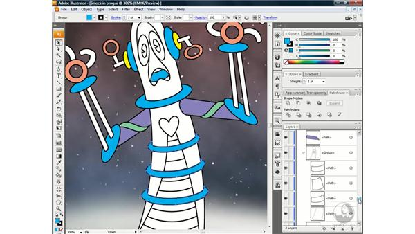 ''Ghosting'' shapes with Fill Opacity: Illustrator CS3 One-on-One: Beyond the Basics