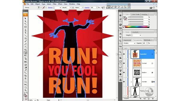 Using the Warp tool: Illustrator CS3 One-on-One: Beyond the Basics