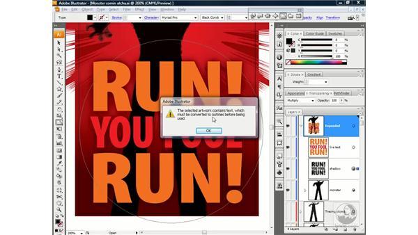 Liquifying text: Illustrator CS3 One-on-One: Beyond the Basics