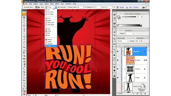 Editing an envelope: Illustrator CS3 One-on-One: Beyond the Basics