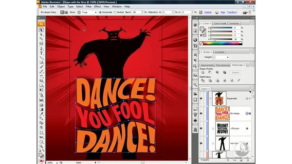Copying a distortion to another object: Illustrator CS3 One-on-One: Beyond the Basics