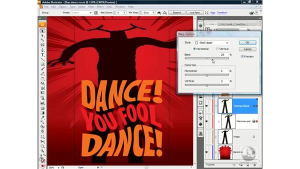 Liquifying a Live Trace object: Illustrator CS3 One-on-One: Beyond the Basics