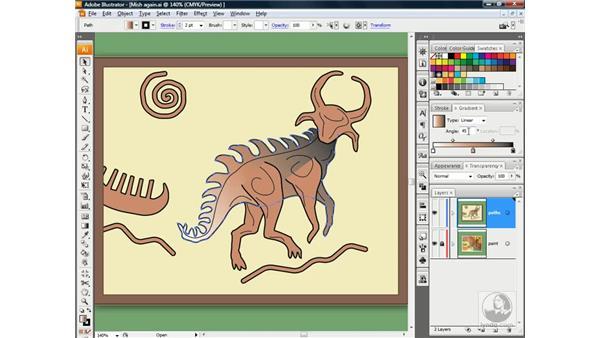 Using the Gradient palette: Illustrator CS3 One-on-One: Beyond the Basics