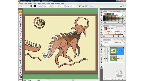 Adding and editing color stops: Illustrator CS3 One-on-One: Beyond the Basics