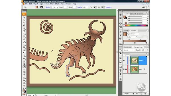 Replacing color stops with the Eyedropper: Illustrator CS3 One-on-One: Beyond the Basics