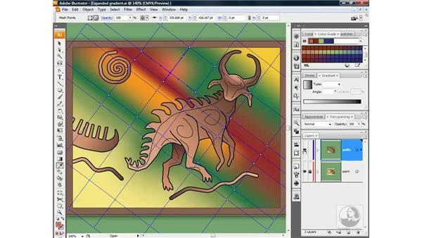 Coloring points and patches with the Eyedropper: Illustrator CS3 One-on-One: Beyond the Basics