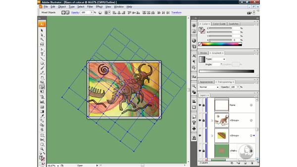 Lassoing points and warping the mesh: Illustrator CS3 One-on-One: Beyond the Basics