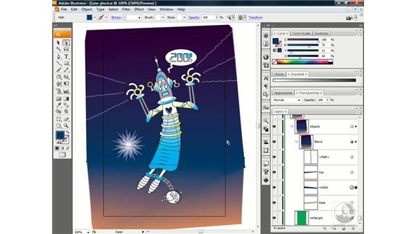 Fixing problem blends: Illustrator CS3 One-on-One: Beyond the Basics
