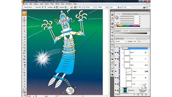 Adjusting the speed of a blend: Illustrator CS3 One-on-One: Beyond the Basics