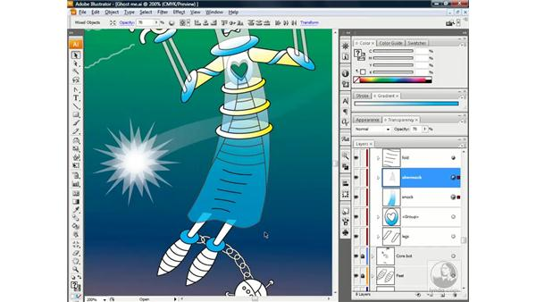 Ghosting nested masks and blends: Illustrator CS3 One-on-One: Beyond the Basics