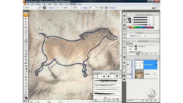 The Paintbrush tool and the Brushes palette: Illustrator CS3 One-on-One: Beyond the Basics