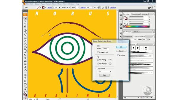Sizing an art brush to fit a path: Illustrator CS3 One-on-One: Beyond the Basics